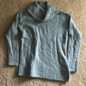Columbia Green Warm Chunky Cowl Neck Sweater